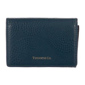 Tiffany & Co Wave Pond Leather Card Case/Wallet